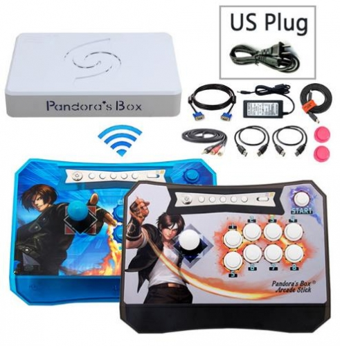 Pandora Box 5 Wireless Arcade Game Controller Joystick kit 960 in 1 Fighting 2 Players Wireless Stick console for PS3 PC TV
