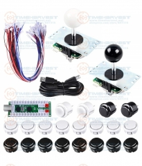 Arcade DIY Bundle Kits with USB Encoder Board adapter with locking push Button Arcade Joystick for PC MAME Game Rocker Console
