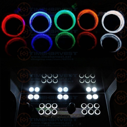33mm transparent Plated illuminated Push Button Arcade LED Button Micro Switch 5V/12V Power Button with microswitch