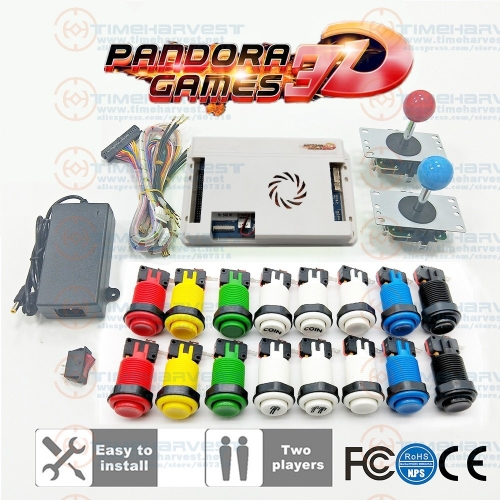 2 Player DIY Arcade Kit Pan dora Game 3D 2448 in 1 game board + 8 way joystick American HAPP Style Push Button for Arcade Machine