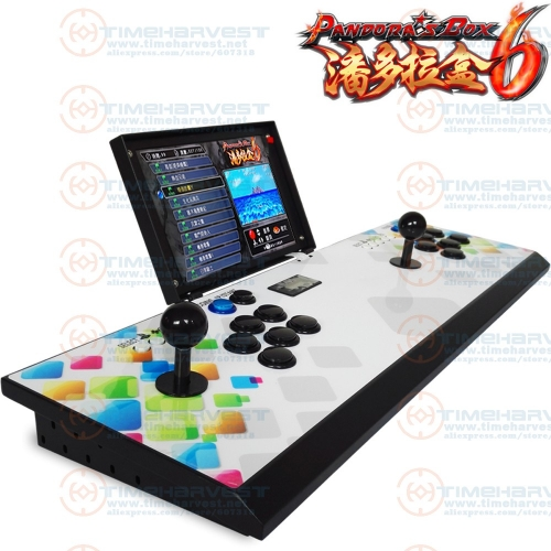 New Bartop Arcade Maschine 2 Players 10 inches LCD Table Top Video Game box console Joystick with Pan dora box multi games board