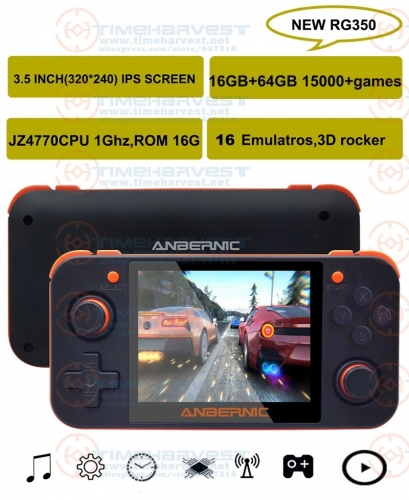 NEW ANBERNIC RG350 IPS Retro Games 350M Video games Upgrade game console ps1 game 64bit opendingux 3.5 inch 15000+games rg350M