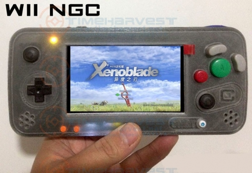 4.3 inch IPS LCD Arcade Game console Modified by WII motherboard NGC Gameboy with Double joystick NO Raspberry Pi Not simulator