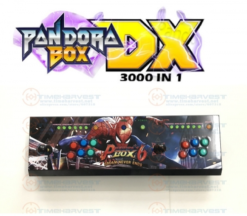 2 plysers Pan dora box DX Arcade joysticks 6 LED buttons console TV game control VGA HDMI 720P video output